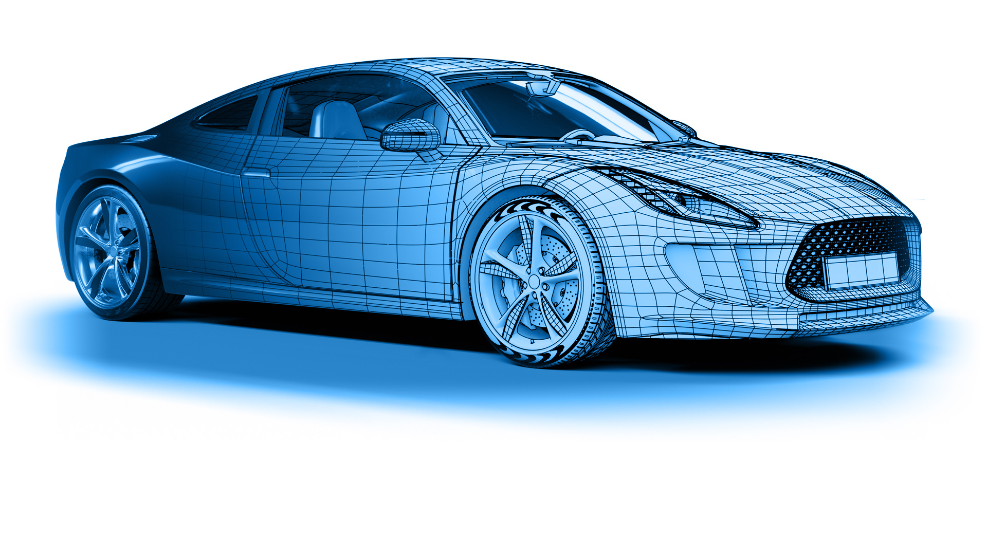 Vehicle front render mesh slide