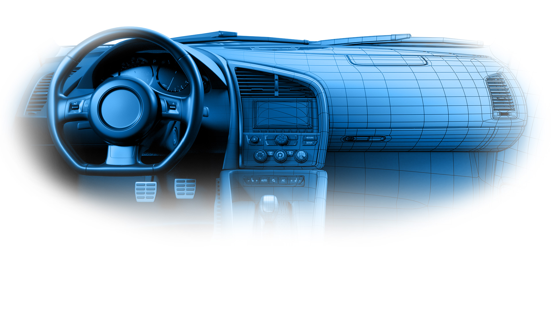 Vehicle interior render mesh slide